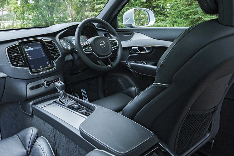 Volvo XC90's cockpit is neater, more comfortable and more intuitive than the Range Rover Velar's.