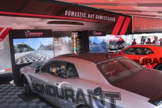 """Chrysler division Dodge invites its enthusiasts and National Hot Rod Association (NHRA) race fans to participate in the """"Drag Strip Showdown"""", a head-to-head competition in Dodge Challenger SRT Demon simulators where the top four drivers with the best race times win trips to the Dodge//SRT Bondurant Drag Racing School."""