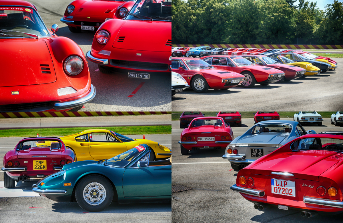 More than 150 Dinos and over 300 customers from all over the world flocked to Maranello and Ferrari for an event celebrating the 50th anniversary of the road debut of the first production Dino.