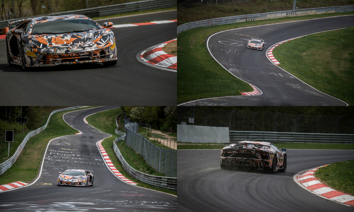 The upcoming Italian supercar, camouflaged and with official Lamborghini driver Marco Mapelli at the wheel, has taken the lap record for production cars at the Nurburgring Nordschleife, with a lap time of 6 minutes and 44.97 seconds.