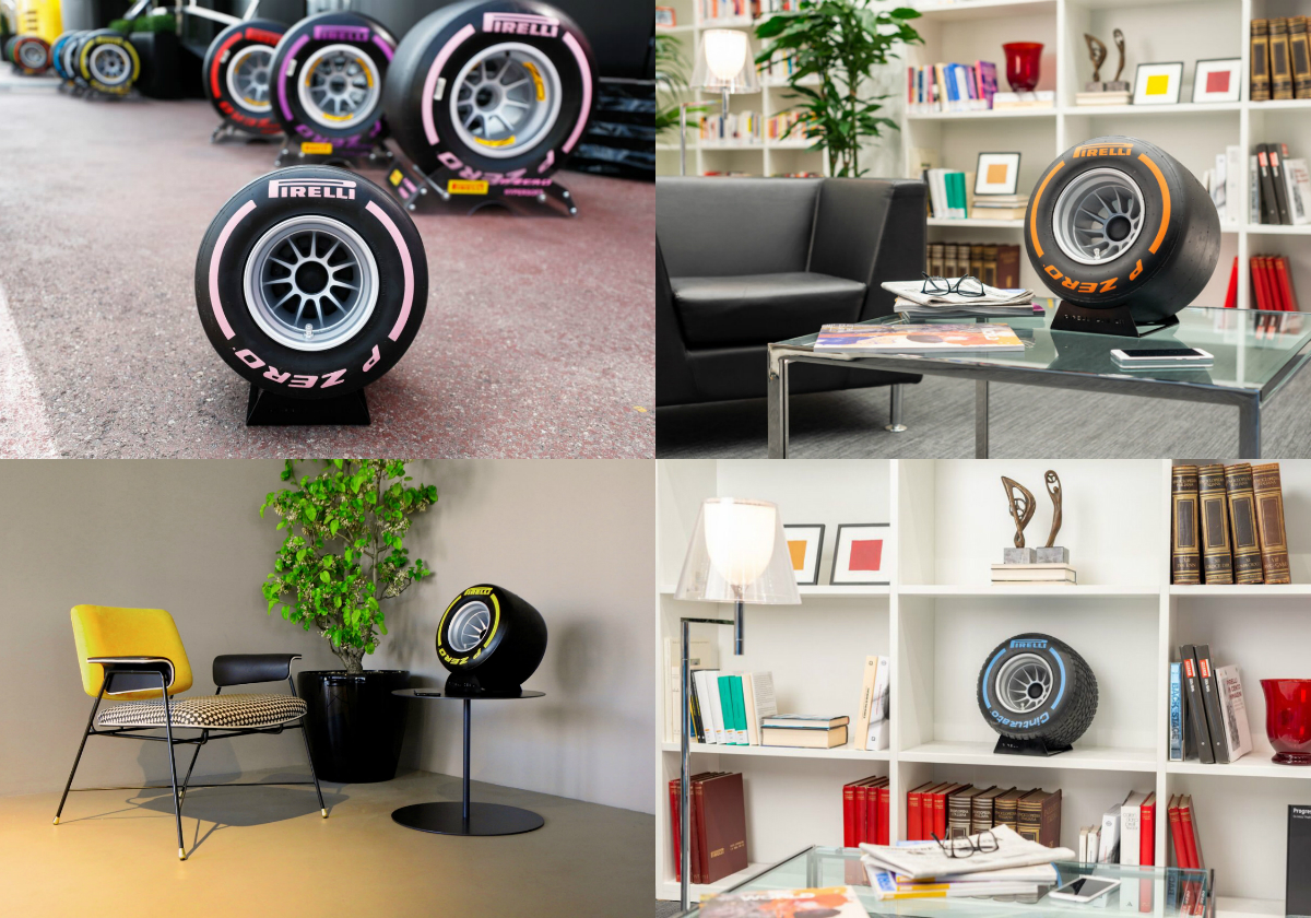 Pirelli has joined forces with IXOOST, an Italian firm from Modena that specialises in high-end car audio, to create an exclusive hi-fi system that includes a cutting-edge Bluetooth speaker within a replica Wind Tunnel Tyre.