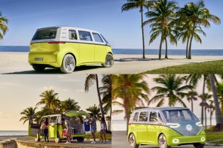 A futuristic tribute to the classic VW Microbus, the Volkswagen I.D. Buzz is an electric minibus with a theoretical driving range of 600 kilometres – about the distance from Singapore to Kuala Lumpur and back.