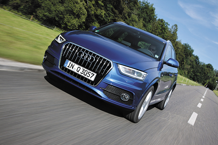audi q3 2.5 front tracking