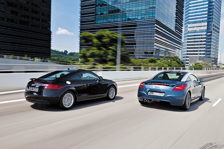 peugeot rcz and audi tt coupe represent the style council   torque