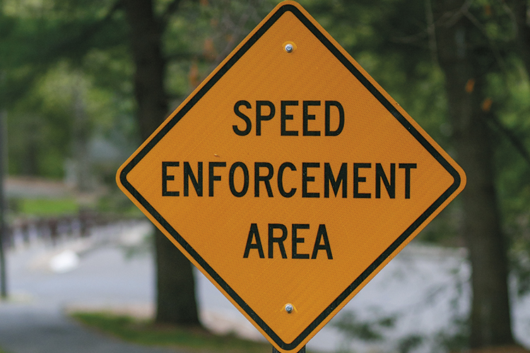 auto utopia speed enforcement sign