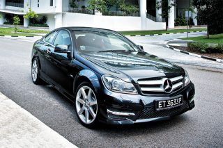 mercedes-benz c350 coupe front static