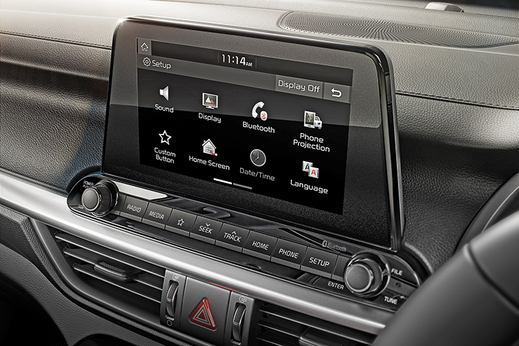 new kia cerato infotainment