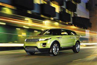 range rover rover evoque green panning