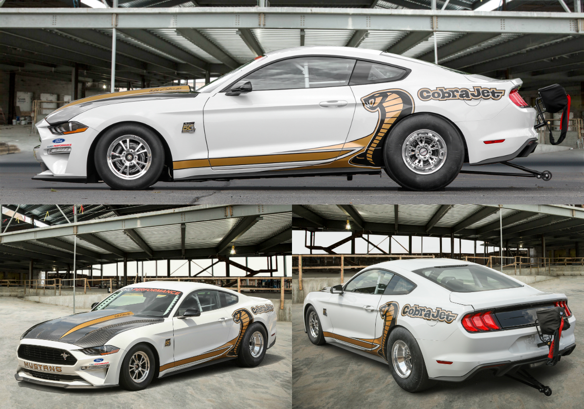 The new limited-edition turnkey racecar is the fastest production Mustang on the drag strip, capable of topping 150mph (241km/h) with quarter-mile (402m) runs in the mid-eight-second range.
