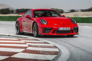 The big news with the latest 2018 911 GT3 is its new 4-litre flat-6 with 500hp and 460Nm, derived from the motor in the 911 RSR and GT3 R racecars, and replacing the earlier model's 3.8-litre unit.