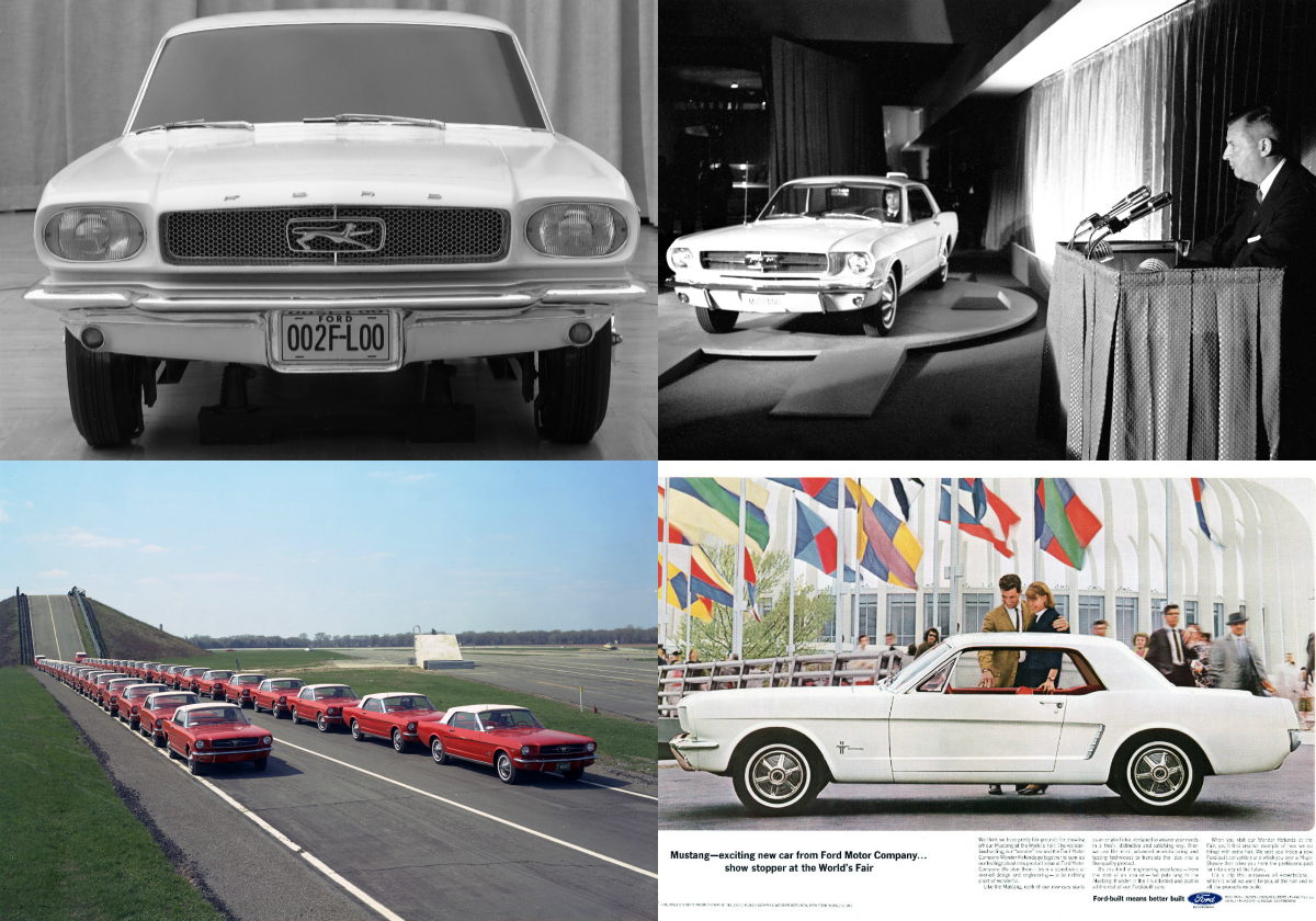 The 10 millionth Ford Mustang, produced at Flat Rock Assembly Plant in Michigan, is a 2019 GT V8 model in Wimbledon White saluting VIN 001, which was the first serialised 1964.5 Ford Mustang that featured a 164-horsepower 3-speed V8 engine.