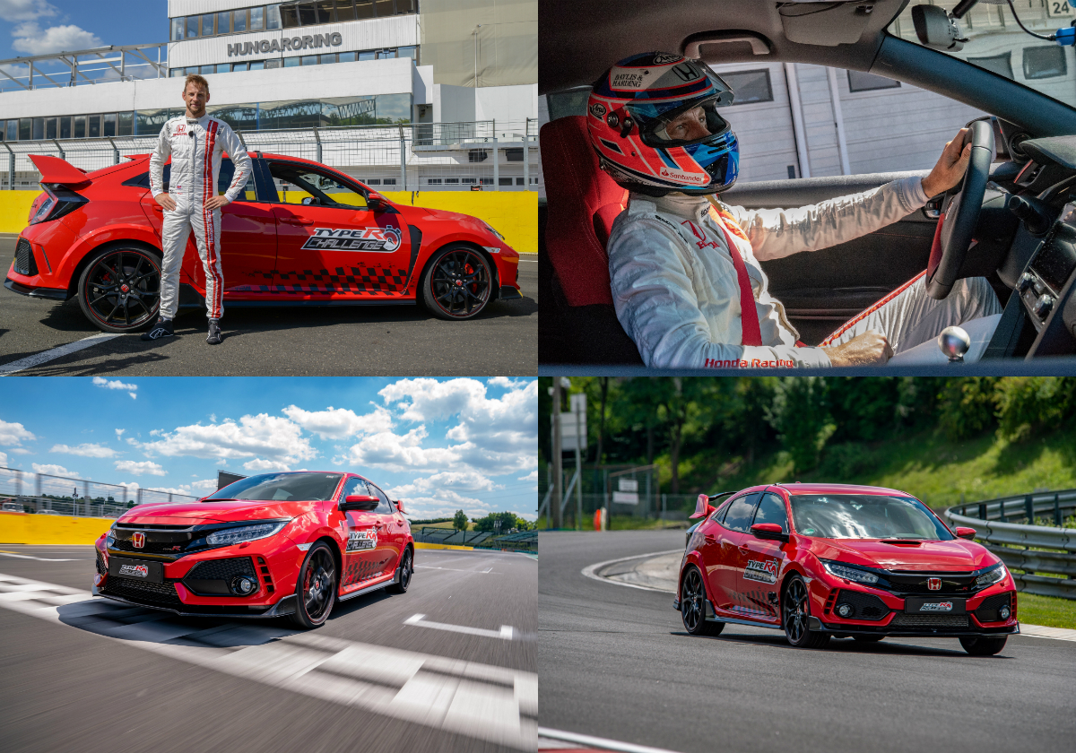 Jenson Button completes Honda Civic Type R Challenge 2018