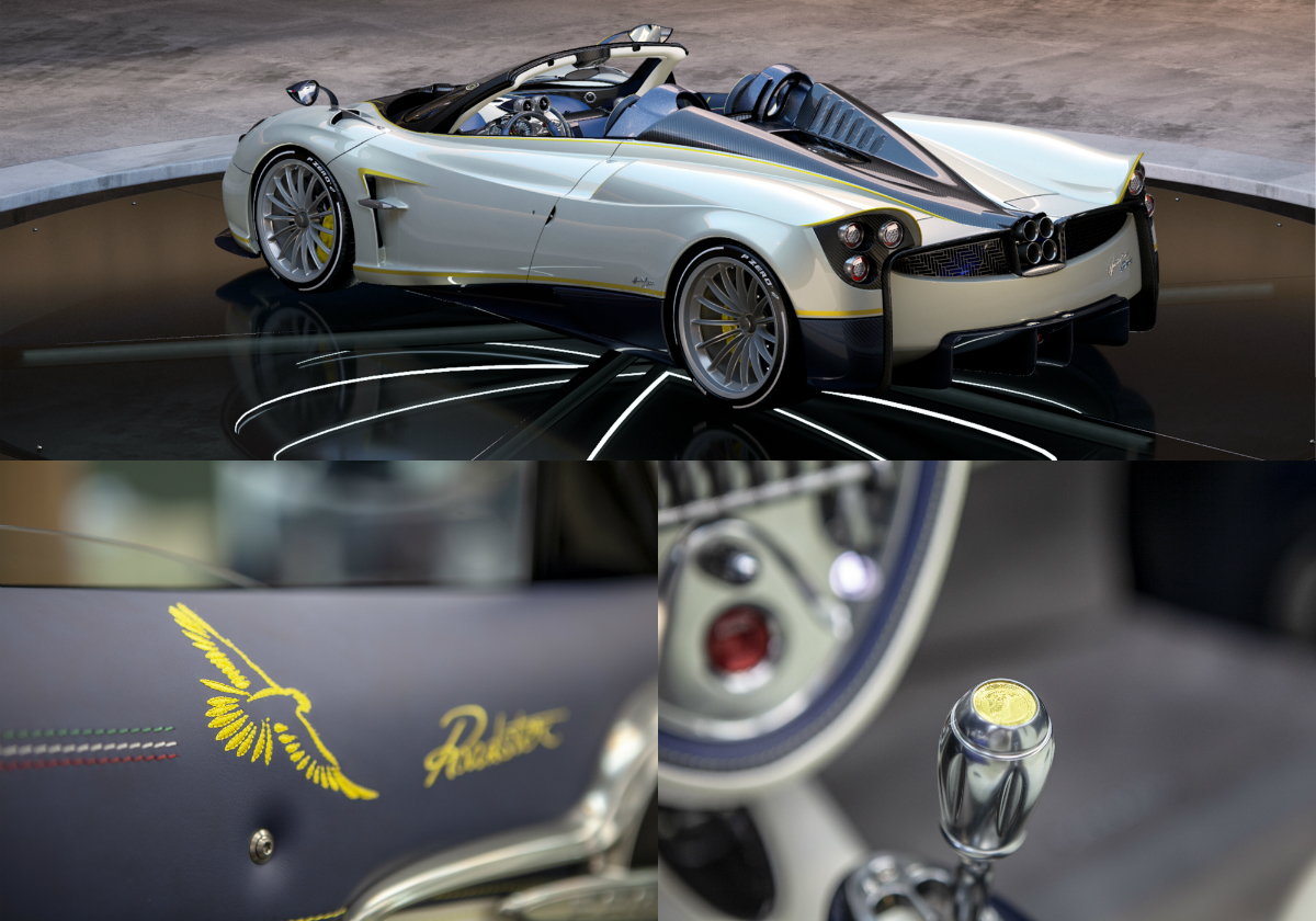 The highly customised, entirely hand-built Italian hypercar is inspired by the elegance of the White Gyrfalcon, the largest falcon of its species, able to cover very long distances during its flights.