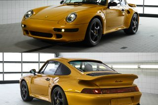 The highly desirable collector's item, introduced 20 years after the end of the model's series production, is a classic 911 Turbo with an air-cooled engine and the 993-generation design based on an original bodyshell, with the vehicle's appearance as unique as its history.