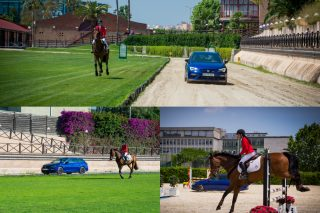 The Spanish hot hatch, driven by racing driver Jordi Gene, measures up against a German horse called Calgary, a competition show jumper with professional rider Virginia Graells in the saddle.