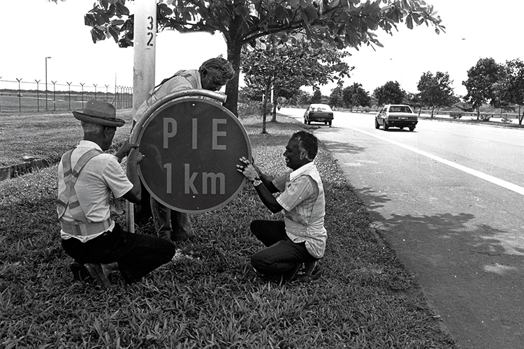a brief history of the pan island expressway 1km sign