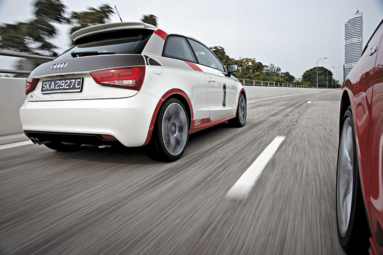audi a1 rear tracking