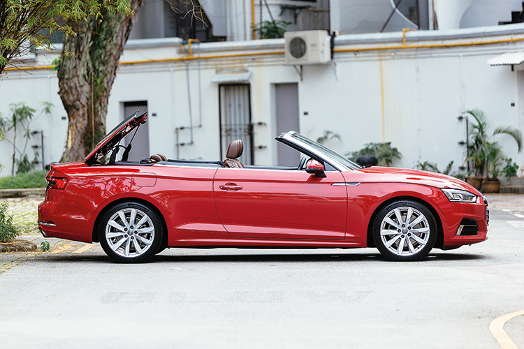 audi a5 cabriolet roof operation