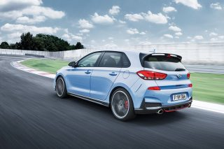 hyundai i30 n driving on track