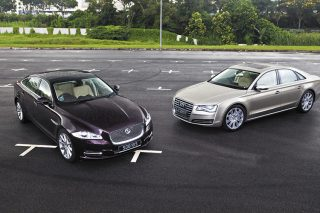 jaguar xj and audi a8 main
