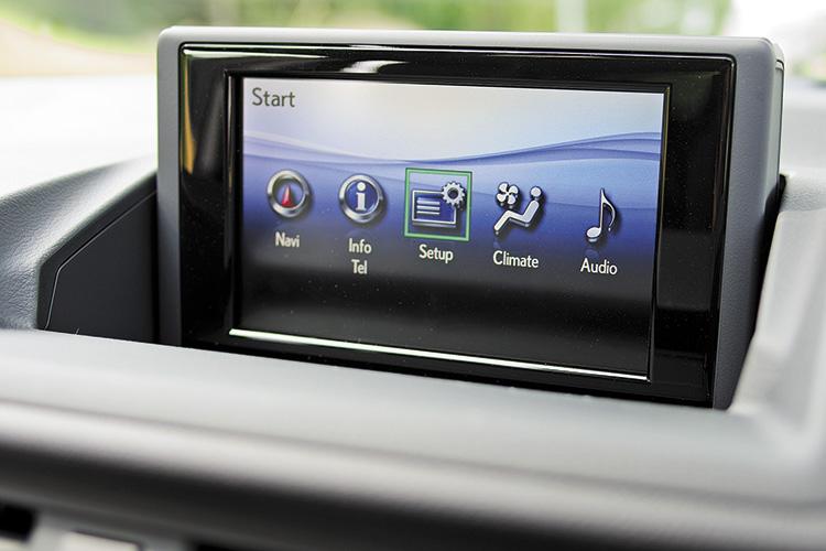 lexus ct200h infotainment screen