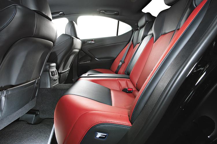lexus is f backseat