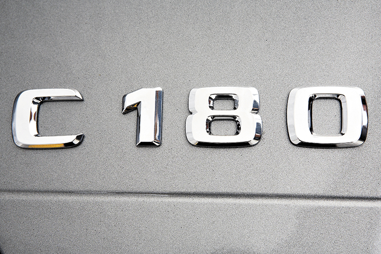 mercedes-benz c180 badge