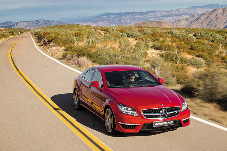 mercedes-benz cls63 amg front tracking