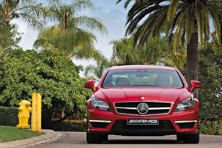 mercedes-benz cls63 amg direct front
