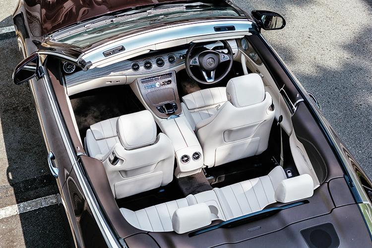 mercedes-benz e200 cabriolet interior