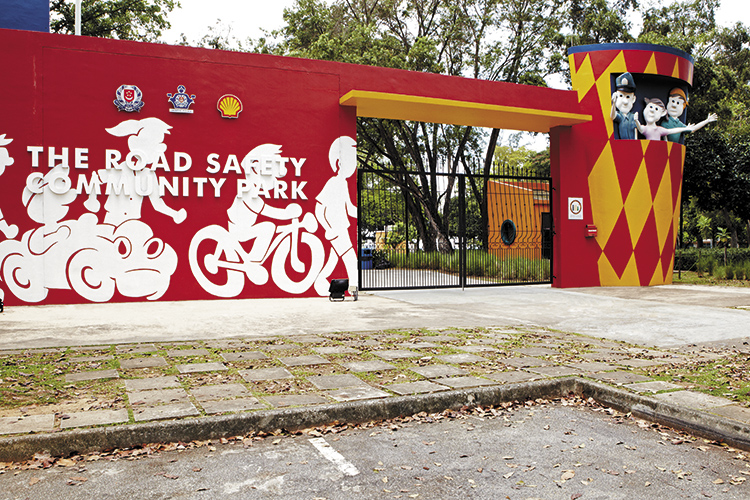 road safety community park gate
