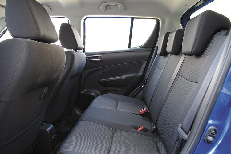 suzuki swift backseat