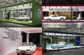 1980 Fiat Panda, 1963 Lincoln Continental, 1962 Ford Consul Capri and 2018 Fiat 500 Spiaggina are in the curated frames of the special exhibition showcasing the Grand Basel advisory board members' personal interpretation of automotive culture.