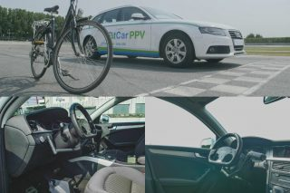 FitCar PPV (pedal powered vehicle) is a unique concept, which replaces the car's throttle with a bicycle pedal mechanism and allows the driver to exercise while driving and burn calories during commutes.