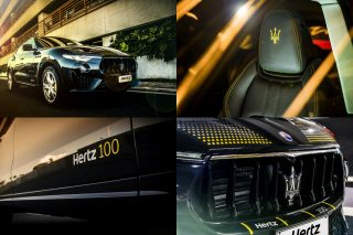 "The Hertz 100th Anniversary Maserati Levante features a number of special ""Hertz yellow"" touches and is now available to rent from Hertz in France, Germany, Italy, The Netherlands, Spain and the UK."