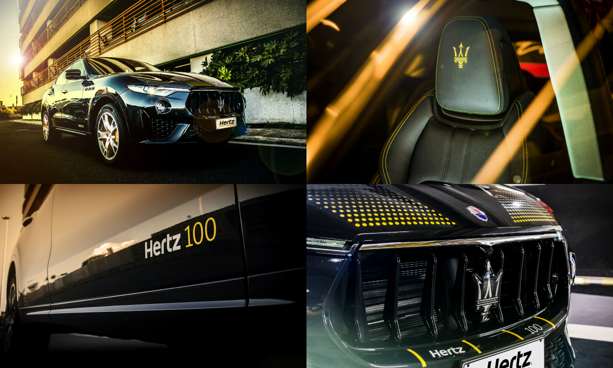 """The Hertz 100th Anniversary Maserati Levante features a number of special """"Hertz yellow"""" touches and is now available to rent from Hertz in France, Germany, Italy, The Netherlands, Spain and the UK."""