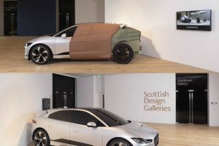 The first V&A Dundee design museum outside London opens with full-size clay model of Jaguar's game-changing all-electric I-Pace, which was designed by world-renowned Scottish designer Ian Callum, with the model showcasing the skill and craftsmanship fundamental to Jaguar's design process.