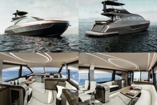 The 65-foot Lexus yacht joins the LS sedan, LX SUV and LC coupe as the fourth Lexus flagship and is the first production maritime expression of Lexus' design language L-finesse, and will be built, sold and serviced by Marquis-Larson Boat Group.