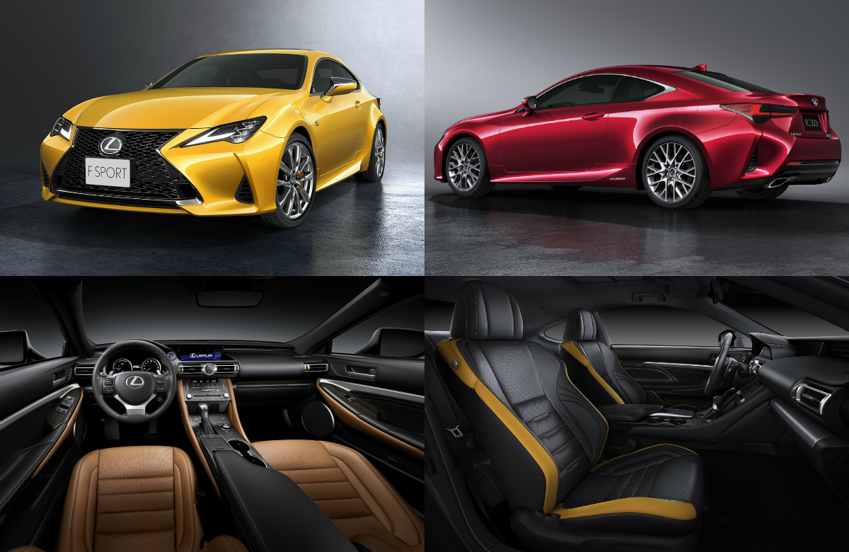 The updated RC has been given a sportier and more elegant new exterior that draws from the svelte design language of the LC flagship coupe, and has also received Interior refinements that inspire heightened driving pleasure.