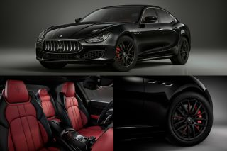 The Maserati limited edition of just 200 Ghibli sports saloons features Nero Ribelle mica paintwork, plus special exterior and interior trims, and is available with all Ghibli powerplants, which are the 3-litre 275hp diesel V6 and the 3-litre 350hp or 430hp petrol V6.