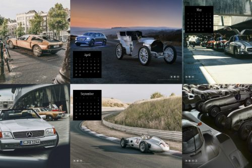 The Mercedes-Benz Classic Calendar 2019 opens up a new dimension for its lavish photos with an augmented reality app providing access to digital content, such as films or social media posts, to bring the images to life.