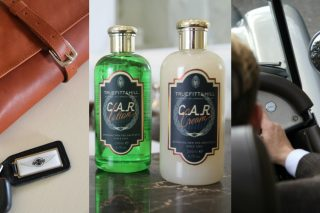 Morgan Motor Company and Truefitt & Hill have jointly relaunched two of Truefitt's original and most iconic hair products, C.A.R Cream and C.A.R. Lotion, along with 50 limited-edition wash bags, all inspired by the rich heritage of both quintessentially British brands.