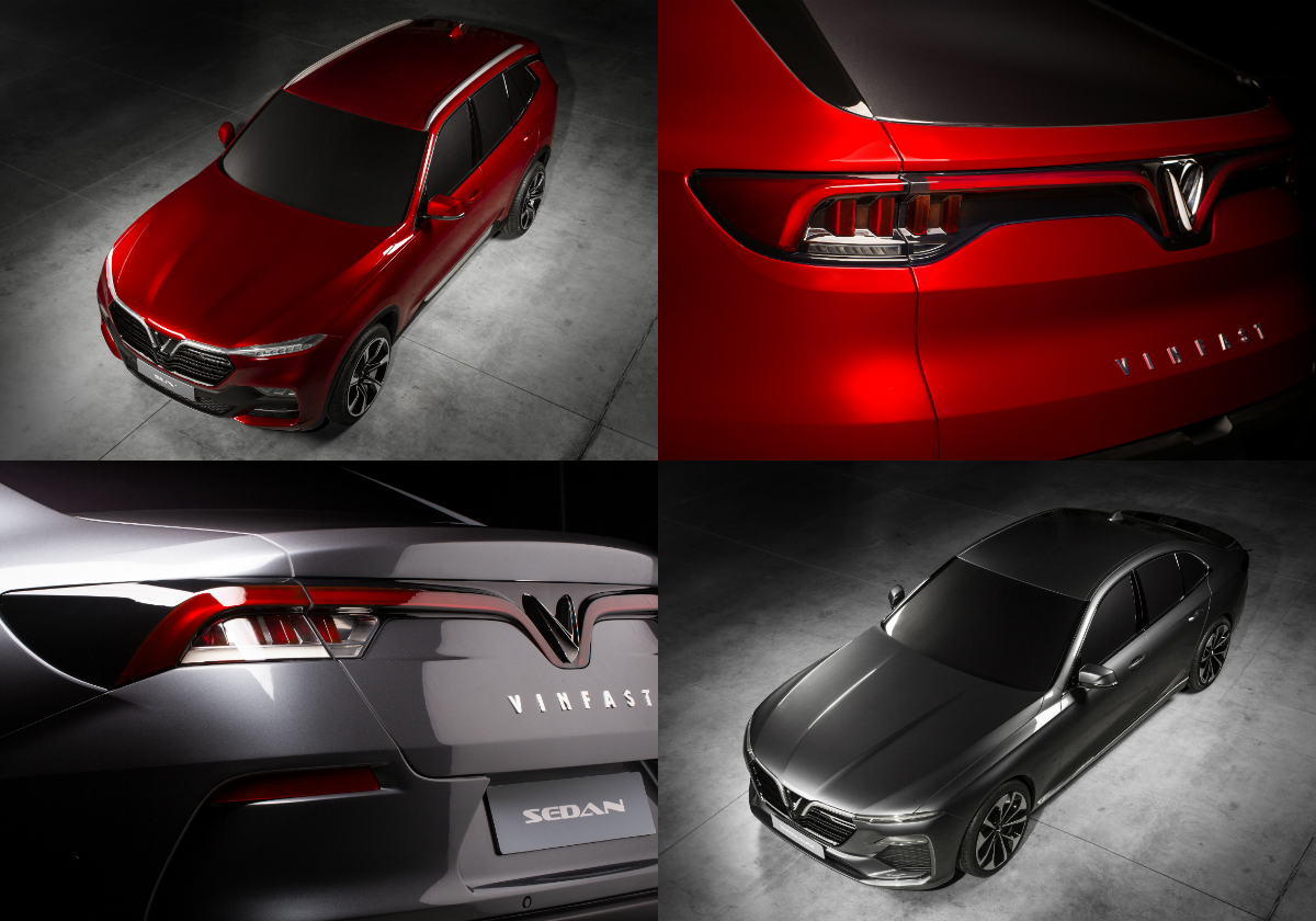 The VinFast sedan and SUV feature perfectly balanced proportions with a contemporary design reflecting the beauty of their country and represent the powerful, progressive spirit of a new, energetic and developing Vietnam.