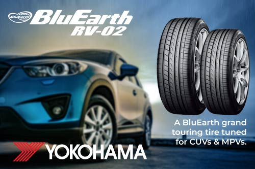 A BluEarth grand touring tire tuned for CUVs & MVPs