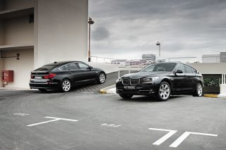 bmw 5 series gt front and rear