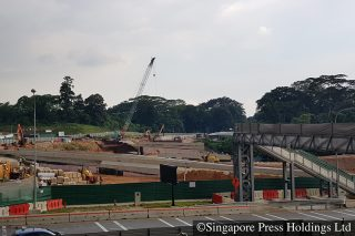bukit brown road construction