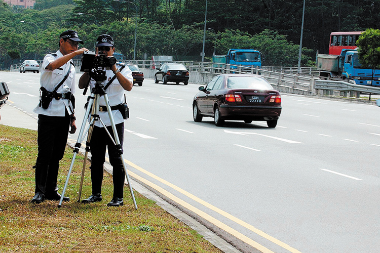 speed cameras operated by singapore traffic police