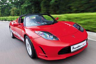 tesla roadster sport driving