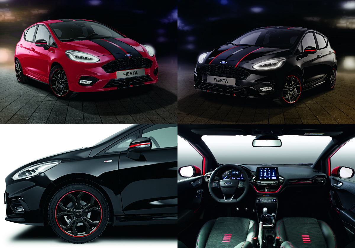 ford introduces fiesta st line red edition and black edition. Black Bedroom Furniture Sets. Home Design Ideas