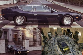 During celebrations for the 50th anniversary of the Espada model, Lamborghini took the 1976 Espada owned by the Lamborghini Museum on a tour to London's Royal Automobile Club and Abbey Road.